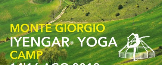 ESTATE 2019: MONTEGIORGIO YOGA CAMP IYENGAR®