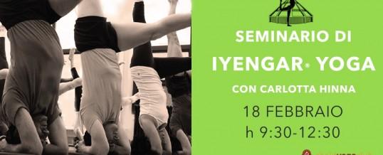 SEMINARIO DI IYENGAR® YOGA  con Carlotta Hinna